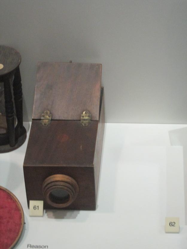 Na exposição da evolução tecnológica do inicio da Revolução Industrial até o final do século XX.